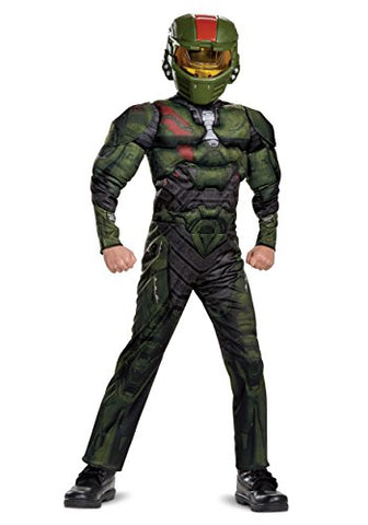 Halo Wars 2 Jerome Classic Muscle Costume, Green, Large (10-12)