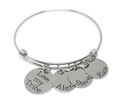 Love my Tribe - Personalized Bracelet - Gift for Moms
