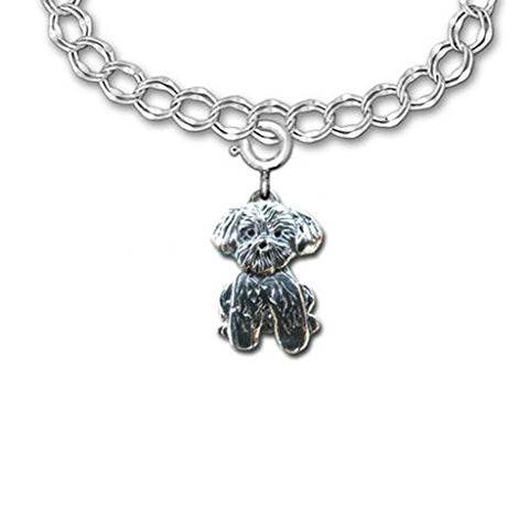 Sterling Silver Lhasa Apso Charm by The Magic Zoo