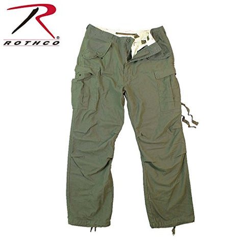 Rothco Vintage M-65 Field Pants, Olive Drab, Small