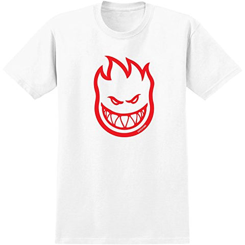 Spitfire Bighead T-Shirt - Size: MEDIUM White/Red