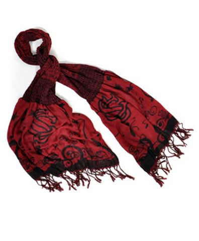 Official NCAA South Carolina Gamecocks Thin Crinkle Shawl Scarf
