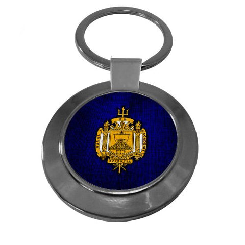 Premium Key Ring with U.S. Naval Academy (USNA), insignia