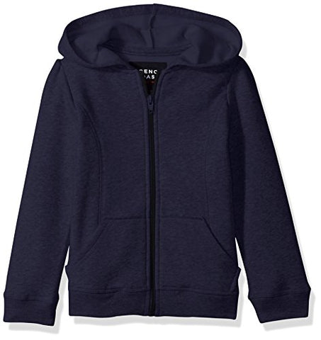 French Toast Big Girls' Fleece Hoodie, Navy, 10/12