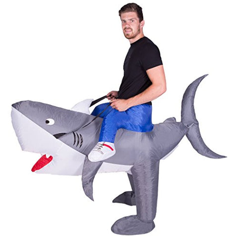 Bodysocks - Inflatable Shark Piggyback Blow Up Animal Zoo Adult Fancy Dress Costume