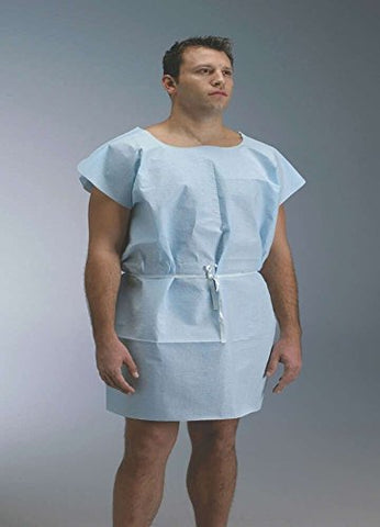 Graham Medical 229 Tissue/Poly/Tissue Gown,  30  Width, 42  Length, Blue