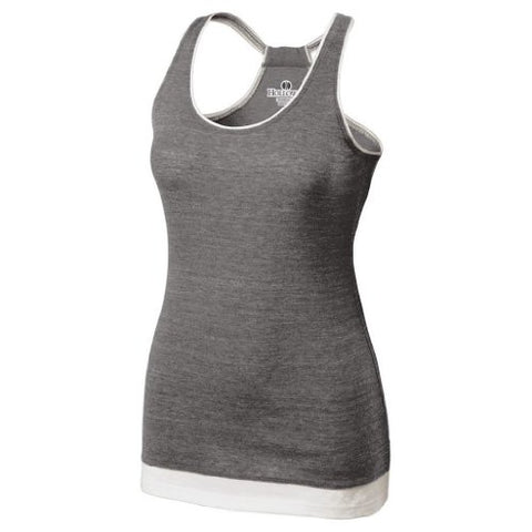 Holloway Juniors Pep Vintage Tank (X-Small, Vintage Grey/White)