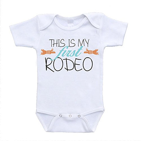 This Is My First Rodeo Cute Customized Baby Clothing Bodysuits (newborn (0-3 Months)