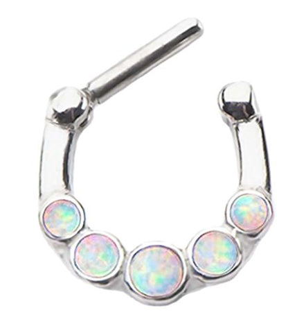 Available in Purple, Pink, or White playful piercings Pretty Fire Opal Tear Clear Cz gem Long Dangle Belly navel ring 14g