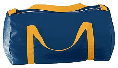 Augusta Sportswear Medium Canvas Sport Bag, NAVY/GOLD, One Size
