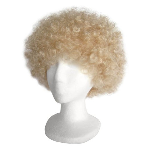 SeasonsTrading Economy Blonde Afro Wig ~ Halloween Costume Party Wig (STC13033)