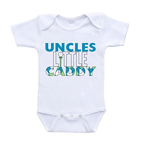 Uncle's Little Caddy i love my uncle and aunt onesie bodysuit online infant shopping clothing cute adorable one piece (6-9 Months)