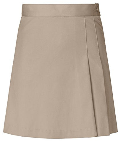 Classroom Uniforms Girls Stretch Double-Pleated Scooter_Khaki_10h