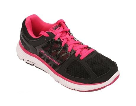 Hylan iRunner Sophia Women's Therapeutic Athletic Extra Depth Shoe Leather-and-Mesh Lace - Black and Pink -8.0 Wide (D) Black/Pink Lace US Woman