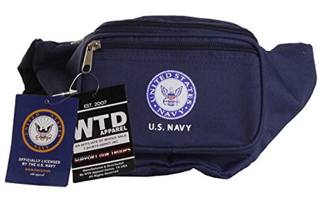US Military Official Licensed Army, Air Force, Navy Marines Fanny Pack (US Navy Blue)
