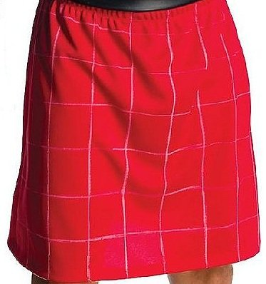 Red Wrestling Kilt Skirt