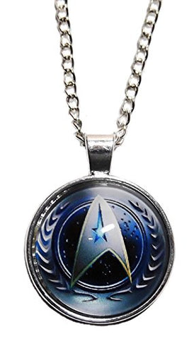 Star Trek The Next Generation Starfleet Command Glass Domed NECKLACE
