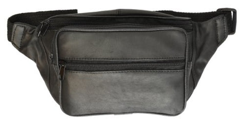 Marshal Wallet Fanny Pack With 4 Zipper Pocket - Black