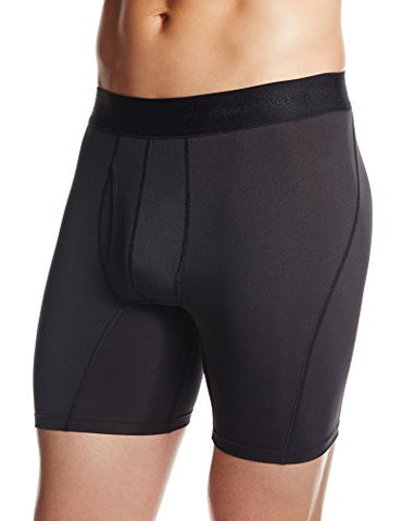 Tommie Copper Men's Recovery Meridian Boxer Briefs, Black, X-Large