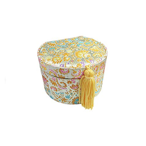 Silk Brocade Jewelry Organizer with Tassel