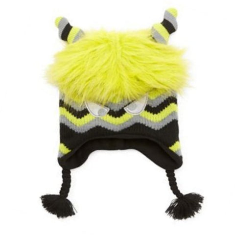 Oxygen Boys Green Monster Hat Fuzzy Fur Peruvian Trapper
