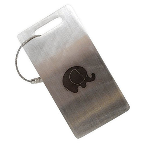 Elephant Stainless Steel Luggage Tag, Luggage Tag