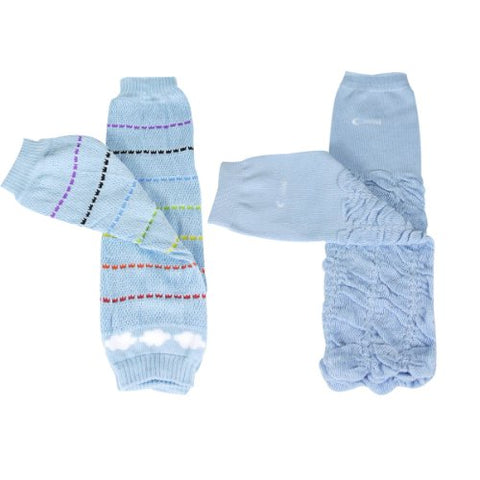 Wrapables Colorful Baby Leg Warmers (Set of 2) - Rainbow Skies