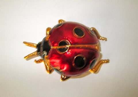 Large Lady Bug Trinket Jewelry Box