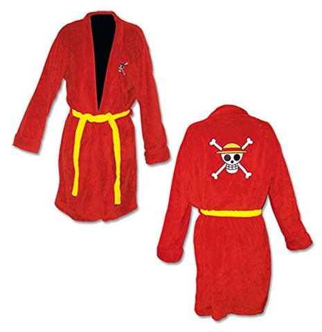 One Piece Luffy Jolly Roger Bath Robe