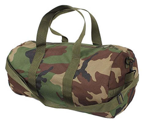 Sports Gym Shoulder Canvas Sport Shoulder Duffle Bag with Strap 19  x 9  (Color: Camouflage)