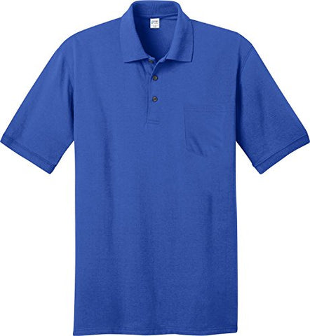 Port & Company - 5.5-Ounce Jersey Knit Pocket Polo Shirt. KP55P - XXXX-Large - Royal