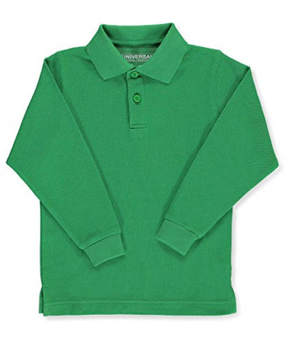 Universal Toddler Unisex L/S Pique Polo - kelly green, 2t