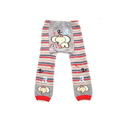 Wrapables Baby & Toddler Leggings, 123 Elephant - 6 to 12 Months