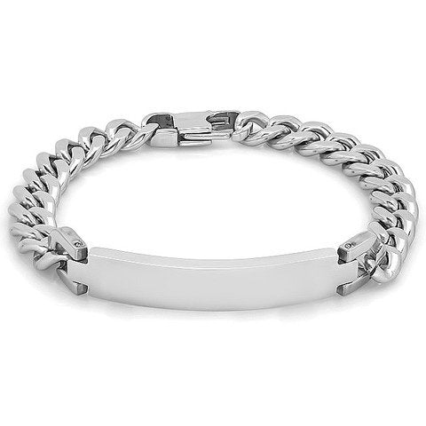 Personalized Quality Stainless Steel Id Bracelet - Free Engraving