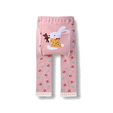 Wrapables Baby & Toddler Leggings, Bunny and Teddy Bear - 6 to 12 Months