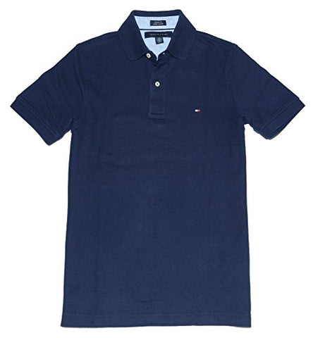 Tommy Hilfiger Classic Fit Men Polo T-shirt (XXL, Navy)