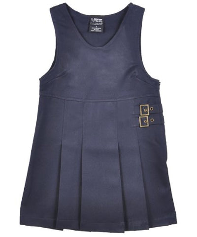French Toast Double Buckle Tab Jumper (Sizes 4-6X) - navy, 6x