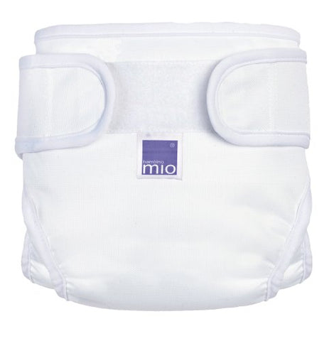 Bambino Mio Miosoft Cloth Diaper Cover - White - Large