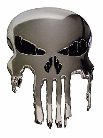 Marvel Comics PUNISHER Skull Logo Polished Silvertone BELT BUCKLE