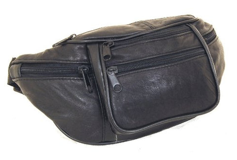 Patch Leather Fanny Pack Black
