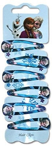 Frozen Elsa Metal Hair Clip Jewelry 6pcs Set