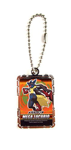 Pokemon XY Mega Evolution Metal Keychain 1.4 x .75 - Mega Lucario