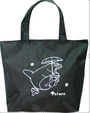 Totoro Tote Bag Approx 18 x14  - Black