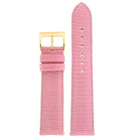 Watch Band Genuine Lizard light Pink 18mm