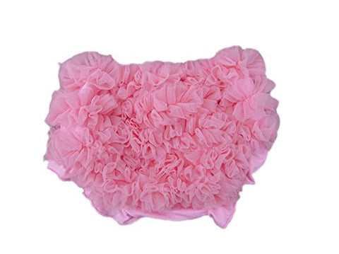 Cther Baby Girl Chiffon Pettiskirt Ruffle Panties Briefs Bloomer Diaper Cover Pink S