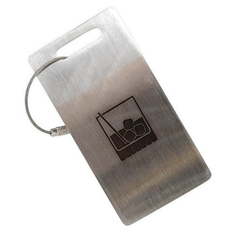 Cocktail Glass Stainless Steel Luggage Tag, Luggage Tag