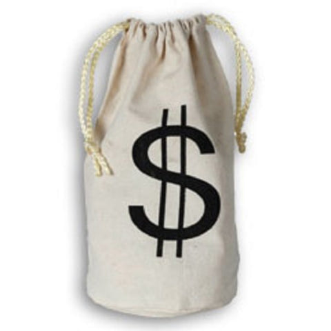 Small Dollar Sign Canvas Drawstring Money Bag Accessory
