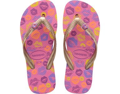Havaianas Girl's Fun Fashion Pink/Rose Gold Flip Flops Sandals Shoes Sz: 2