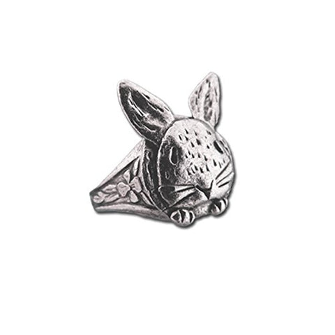 Pewter Bunny Ring by The Magic Zoo, Adjustable Size