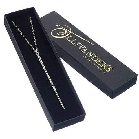 Officially Licensed Harry Potter Silver Plated Hermione Granger Wand Necklace